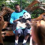 LeBron James u druženju s pandom
