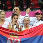 Srpske teniserke presrećne nakon velikog trijumfa