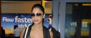 Nicole Scherzinger Touches Down At Heathrow Airport