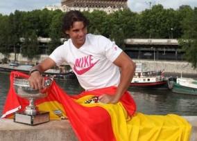 ROLAND GARROS: Tennis Player Rafael Nadal winner of the Roland Garros 2012