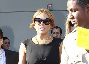Lindsay Lohan Leaves The Court