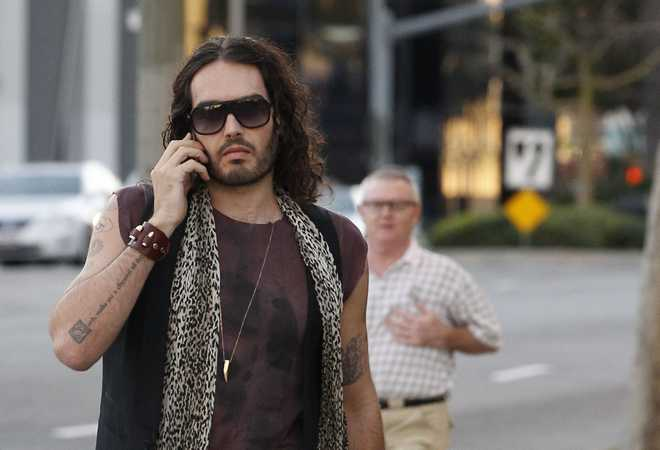 Exclusive... Russell Brand Visits The La Brea Tar Pits