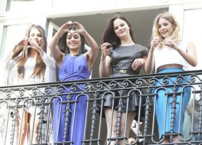 """Spring Breakers"" Cast Waves to Fans"