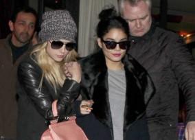 "Vanessa Hudgens and Ashley Benson leave ""L'Avenue"" restaurant in Paris"