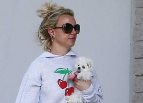 Britney Spears Takes Her New Puppy To The Hospital