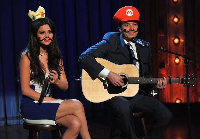 "Selena Gomez Visits ""Late Night With Jimmy Fallon"""