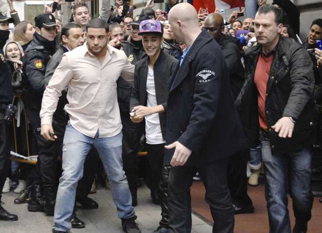 Justin Bieber Leaving His Hotel In Madrid