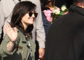 "Demi Lovato Visits ""Good Morning America"""