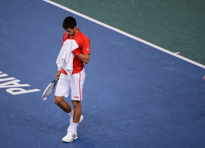 PARIS: BNP Paribas Masters Match Djokovic - Querrey