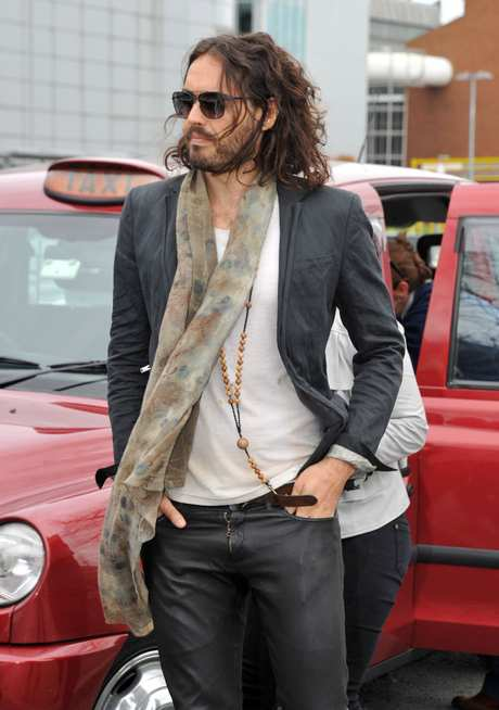 Russell Brand Touches Down In London
