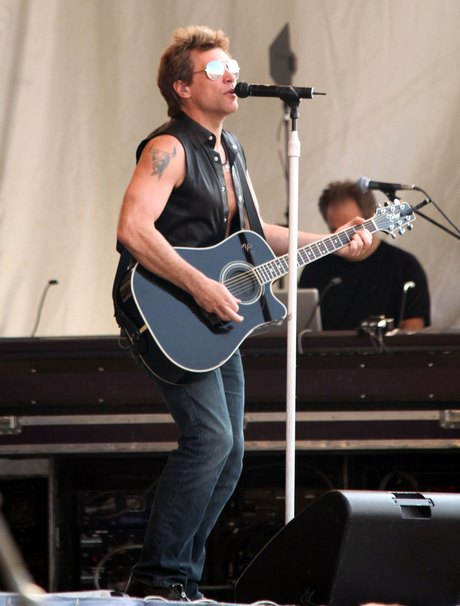 Bon Jovi Performing Live At The 2011 New Orleans Jazz Fest