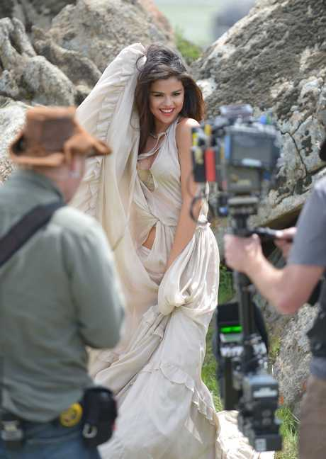 Day One of Selena Gomez Video Shoot for COME & GET IT