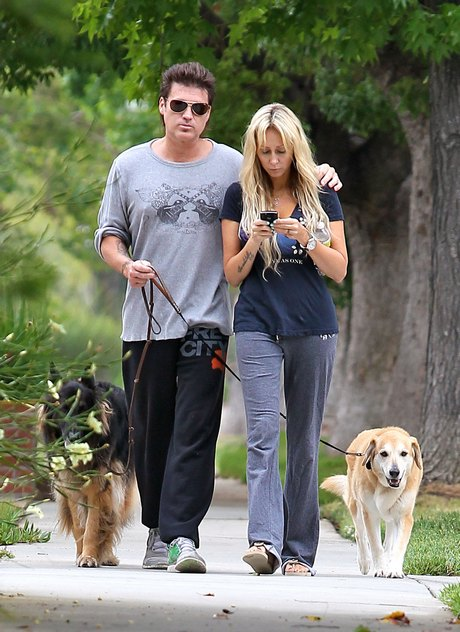 Billy Ray Cyrus Walks The Dogs WithTish!