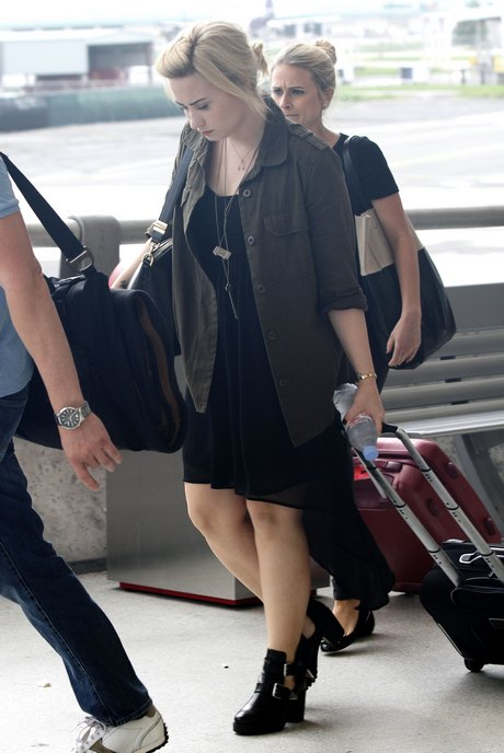 Demi Lovato Touches Down In New Orleans