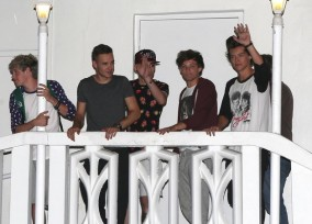 One Direction Leaving A Recording Studio In Miami