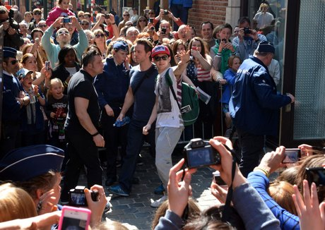 Exclusive... One Direction Boys Head Out To Their Concert In Belgium ***USA, SOUTH AMERICA, CANADA AND OZ ONLY***