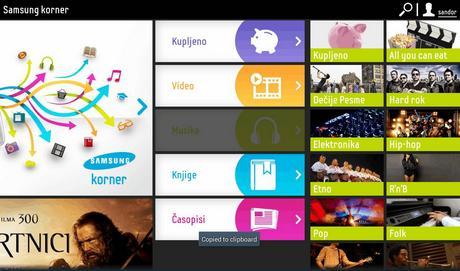 Samsung Korner  4, muzika