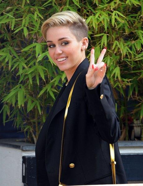 Miley Cyrus Visits ITV Studios