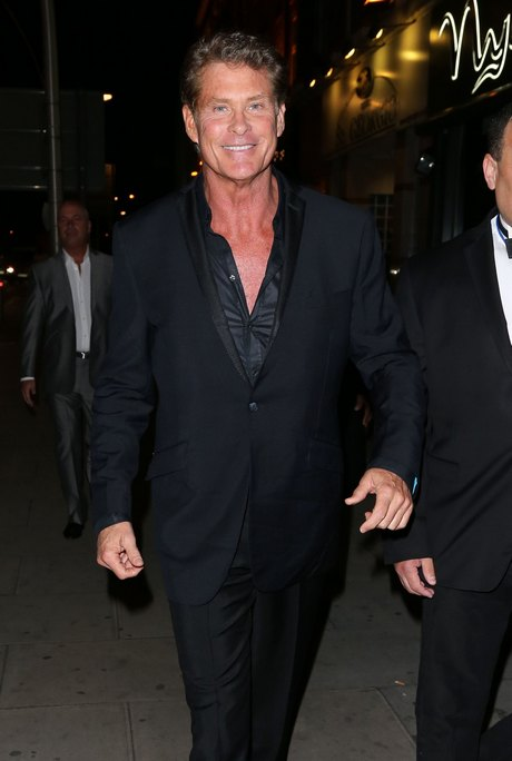 David Hasselhoff Has A Night Out In London