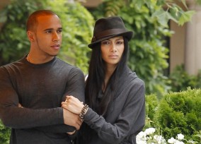 Nicole Scherzinger and Lewis Hamilton Dine Out at the Montage Hotel