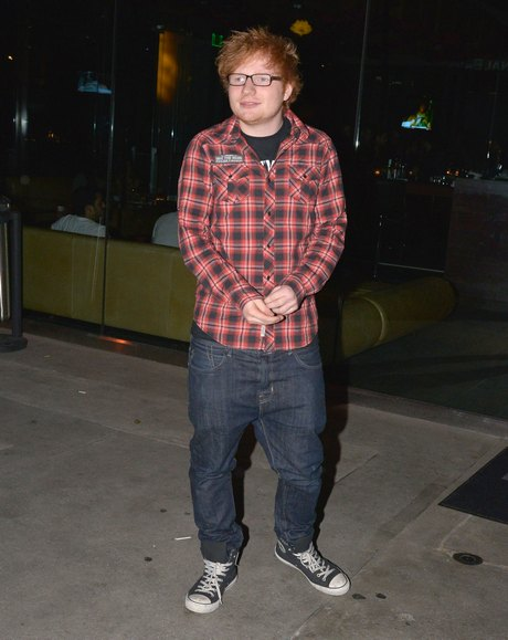 Ed Sheeran Dines Out At BOA Steakhouse