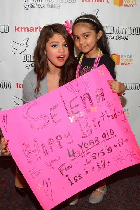 Selena Gomez Celebrates Her 21st Birthday and New Dream Out Loud Fall Collection with Kmart Shop Your Way Members in NYC