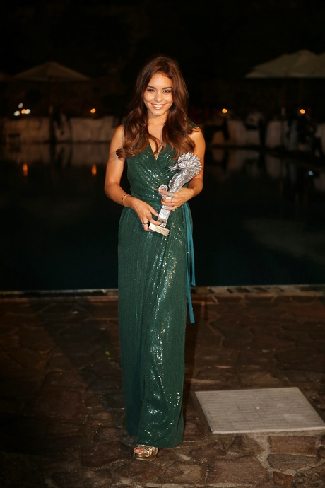 Vanessa Hudgens and Baz Luhrman were both presented with an award at the Ischia Global Festival