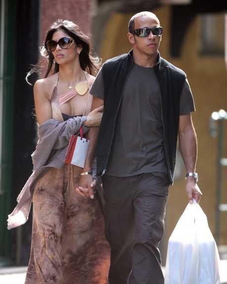 PORTOFINO : Lewis Hamilton and Nicole Scherzinger