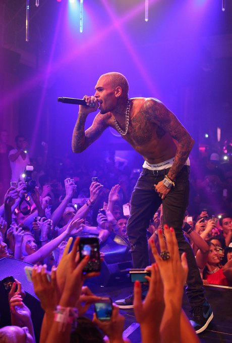 Chris Brown Performs In Cannes