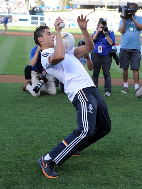 Cristiano Ronaldo Throws Out The First Pitch