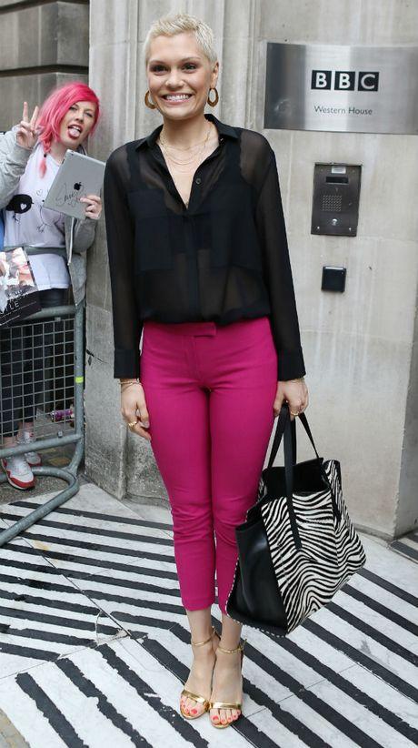 Jessie J arriving at BBC studios WENN 2