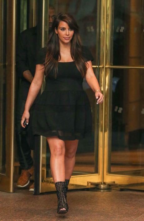 Kim Kardashian and Kanye West seen leaving Universal Studios in New York City