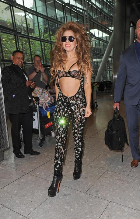 Lady Gaga Arriving To Heathrow Airport 135710