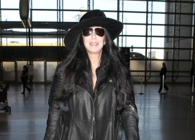 Cher Departing On A Flight At LAX