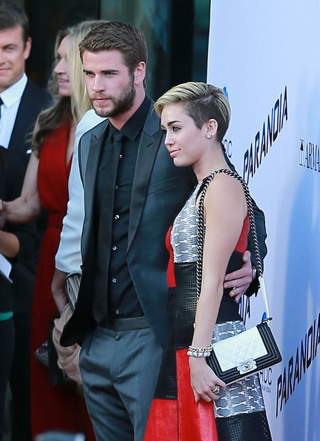 Liam Hemsworth & Miley Cyrus Attend 'Paranoia' Premiere Together
