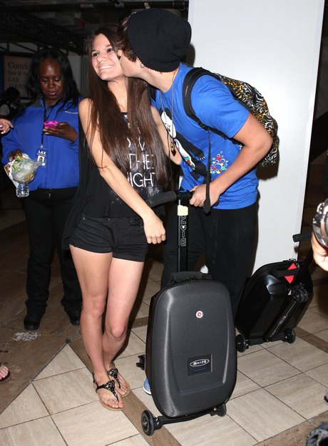 Austin Mahone Arriving On A Flight At LAX