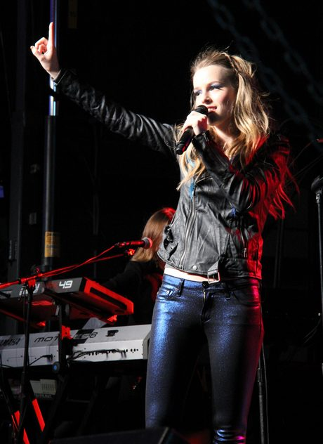 Bridgit Mendler and Andy Grammer at Red Kettle Concert