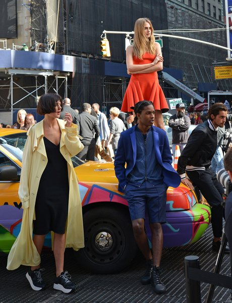 Cara Delevingne & ASAP Rocky Pose For DKNY Photo Shoot