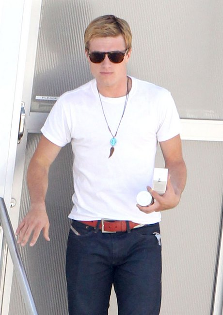 Josh Hutcherson On The Set Of 'The Hunger Games: Catching Fire'