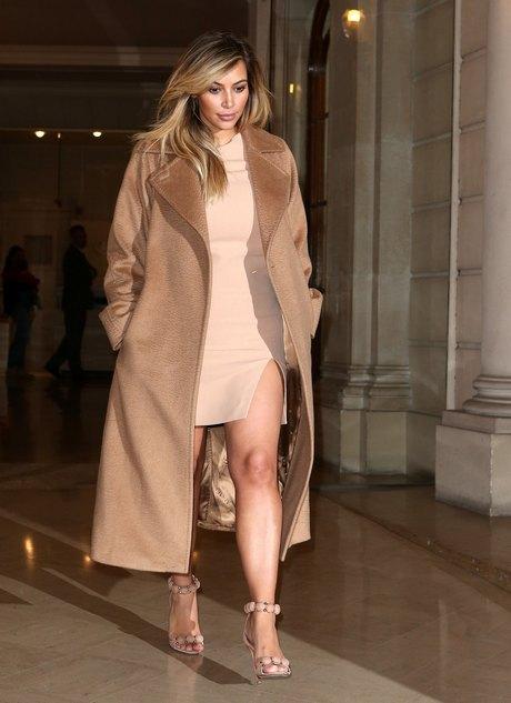 Kim Kardashian Stops By The Armani Store