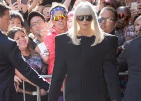 "Lady Gaga Leaves ""Good Morning America"" Studio"