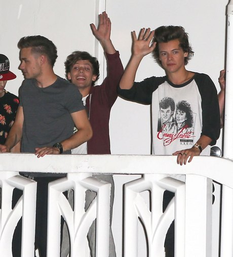 One Direction Leaving A Recording Studio In Miami