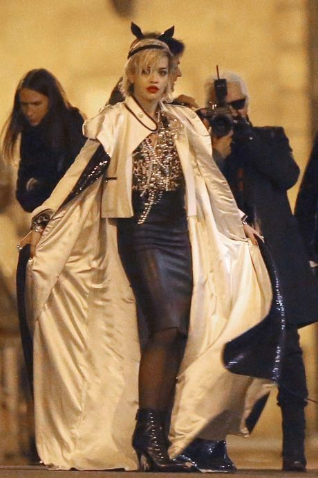 Exclusive... Rita Ora Does Photo Shoot with Karl Lagerfeld