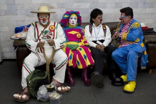 APTOPIX Mexico Clown Convention Photo Gallery