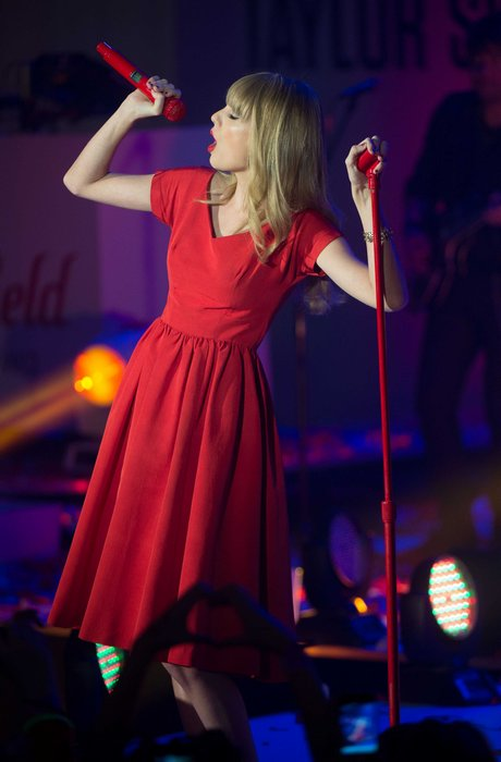LONDON : Taylor Swift Switches On Westfield Christmas Lights.