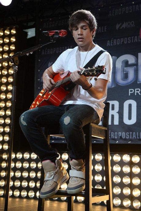 NY: Austin Mahone At Z100's Jingle Ball 2013 Official Kick Off Party