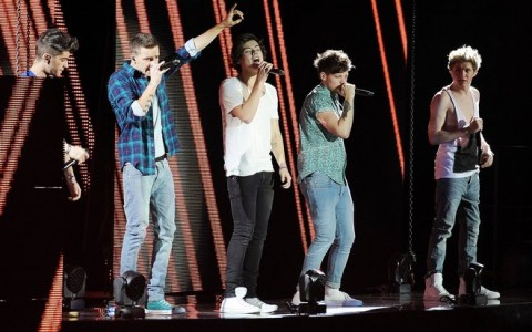 One Direction Performing At The O2 Arena