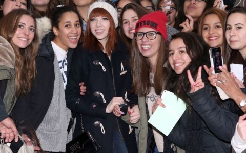 Carly Rae Jepsen Poses With Fans in Paris