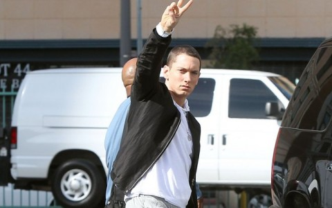 Eminem On Set Of Music Video In Los Angeles