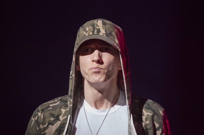 Eminem Performs at G-Shock 20th Anniversary Party